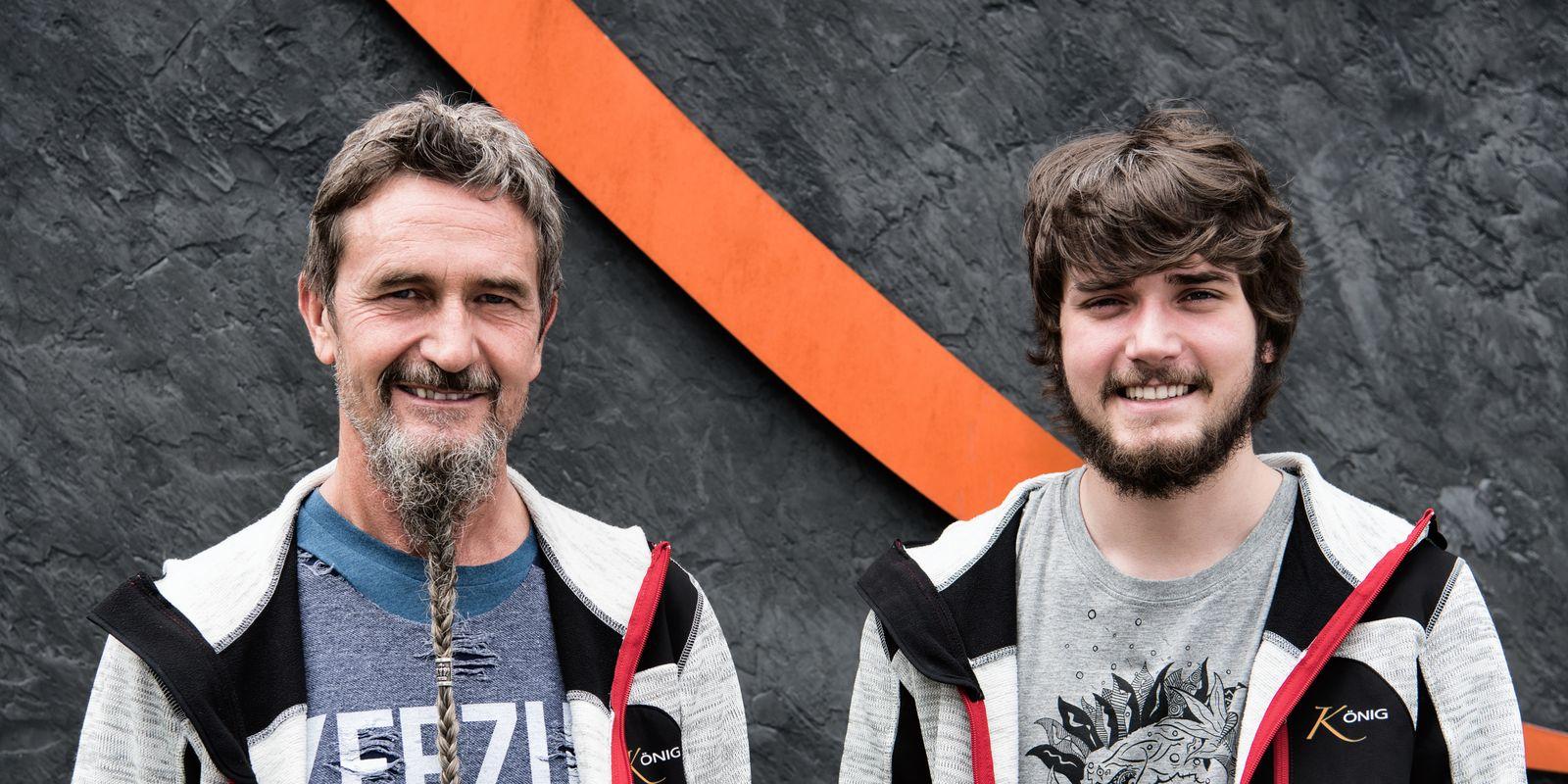 Firmenchef Franz König mit Sohn Mathias